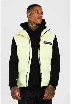 MAN Branded Padded Gilet, Yellow