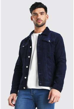 Regular Fit Cordjacke, Marineblau