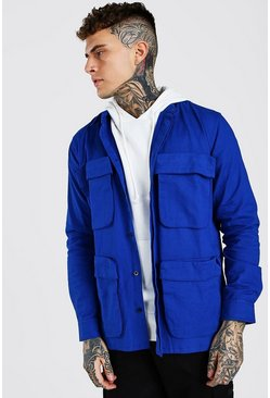 Cobalt MAN 3D Pocket Utility Twill Overshirt