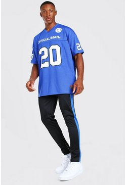 Cobalt Loose Fit Official MAN Football Top And Jogger