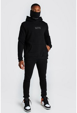 Black Original MAN Snood Tracksuit