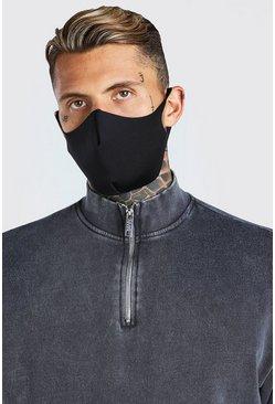 Black 3 Pack Fashion Face Mask