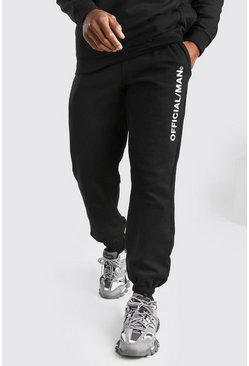 Official MAN Print Joggers, Black