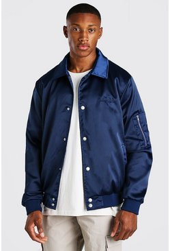 "Veste Harrington ""MAN"" brodé, Navy"