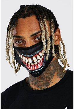 Black Halloween Scary Smile Fashion Mask
