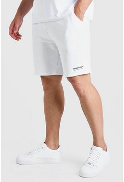 White Big and Tall MAN Short with Elastic Waistband