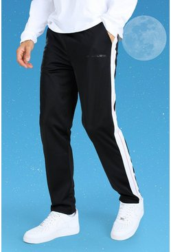 White Tall Official MAN Side Tape Tricot Jogger