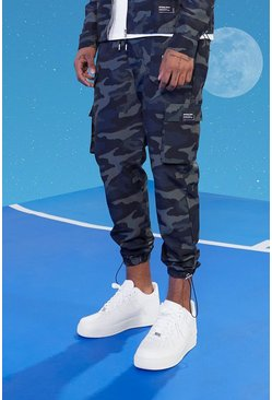 Tall Slim Twill Camo Cargo Pants