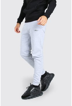 Grey marl Tall MAN Signature Skinny Joggers