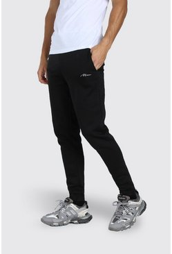 Black Tall MAN Signature Skinny Joggers