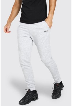 Tall Original MAN Skinny Joggers, Grey marl