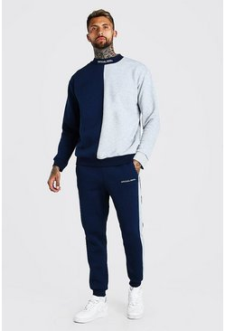 Spliced MAN Official Extended Neck Tracksuit, Navy
