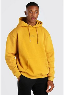 Mustard MAN Signature Embroidered Hoodie