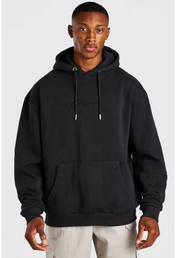 Slate MAN Signature Embroidered Hoodie