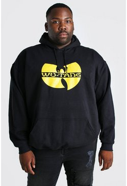 Black Plus Size WU-TANG License Hoodie