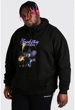 Black Plus Size Purple Rain License Hoodie