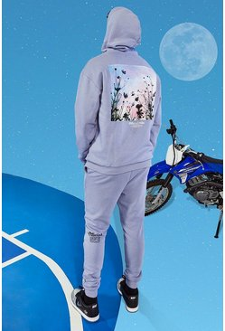 Lilac Tall Official MAN Oversized Blossom Tracksuit