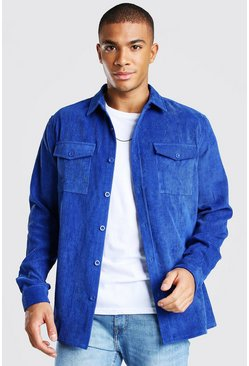 Cobalt Long Sleeve Two Pocket Corduroy Overshirt