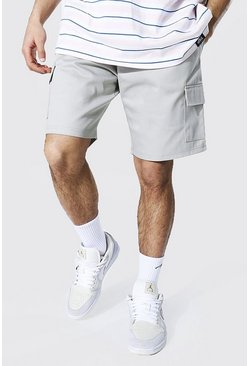 Light grey Twill Cargo Short