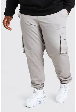 Slate Plus Size Utility Woven Cargo Jogger
