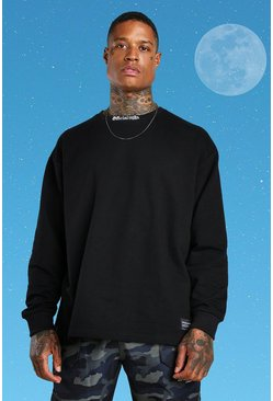Black Official MAN Oversized Long Sleeve T-shirt