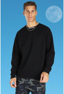Black Tall Official MAN Oversized Long Sleeve T-shirt