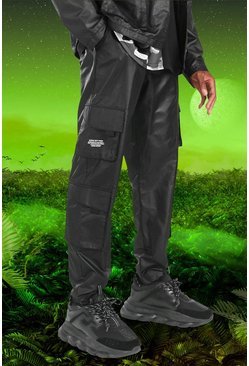 Black Burna Boy Cargo Pants