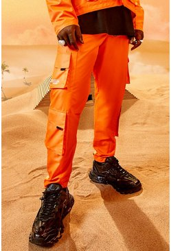 Pantalon cargo - Burna Boy, Orange