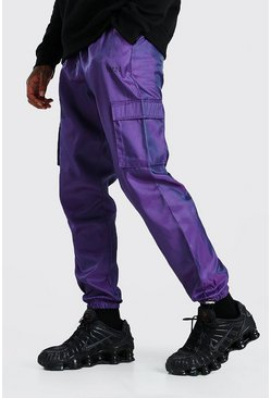 Purple Original MAN Reflective Shell Strap Cargo Trouser