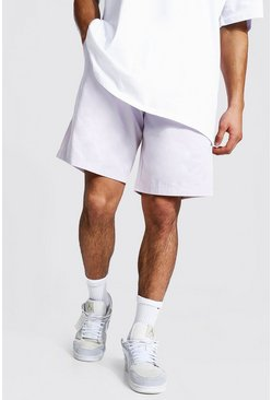Ecru Elastic Waist Relaxed Fit Chino Short