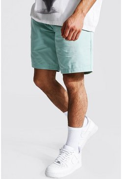 Sage Elastic Waist Relaxed Fit Chino Short