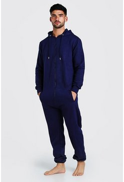 Navy Hooded Onesie