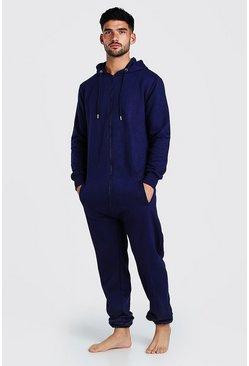 Navy Hooded Onesie