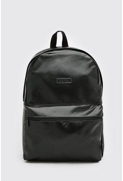 Black Smart MAN Pu Backpack