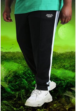 Black Plus Size Burna Boy Slim Fit Joggers