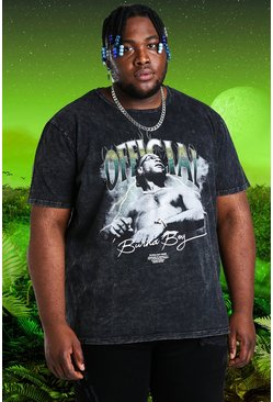 Charcoal Plus Size Burna Boy Official T-Shirt