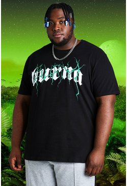 Black Plus Size Burna Boy Tour Print T-Shirt