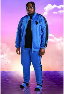 Cobalt Plus Size Burna Boy Tricot Slim Fit Tracksuit