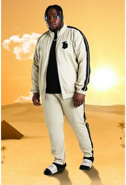 Stone Plus Size Burna Boy Tricot Slim Fit Tracksuit