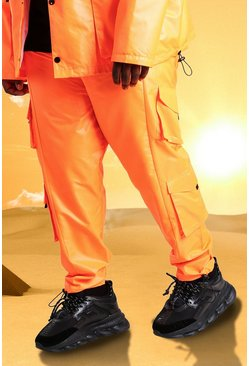 Orange Plus Size Burna Boy Cargo Trouser