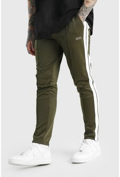 Khaki Original MAN Tricot Jogger With Side Tape