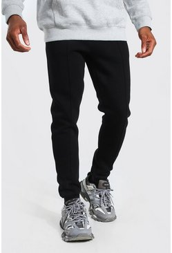 Black Skinny Fit Pintuck Jogger