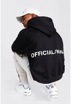 Black Oversized Official MAN Boxy Fit Hoodie