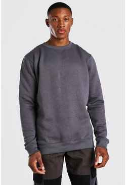 Official MAN Back Print Sweater, Charcoal