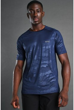 T-shirt camouflage - MAN, Navy