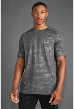 Charcoal Man Active Camo Print T-Shirt