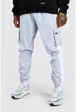 Original MAN Print Shell Side Panel Cargo Trouser, Grey
