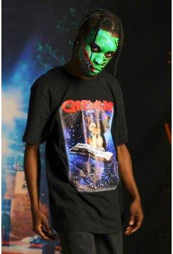 Black Oversized Gremlins Licensed T-Shirt