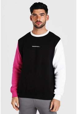 Black MAN Official Colour Block Sweater