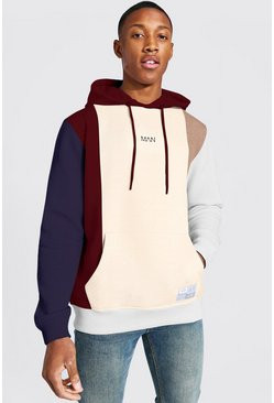 Sand Original MAN Colour Oversized Block Hoodie